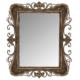 Wenge Home Metal Antık Siyah Ayna Ayna 81x4.5x100 Cm