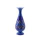 Minakari Mavi Dekoratif El Yapimi Bakır Vazo-25 Cm-İsfahan Minakari (Enameling)
