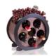 Purupa 6'Lı Ahşap Şarap Standı Şaraplık