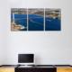 3 Parça Boğaz Köprüsü Manzarası Kanvas Tablo 30x63 cm