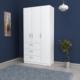 Kenyap 813178 Üç Kapılı Üç Çekmeceli Gardırop-Beyaz