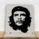 KFBiMilyon Che Guevara Silüet Baskılı Doğaltaş Masa Dekoru