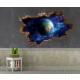 3D Art Dünya – 3D Sticker 150x100 cm