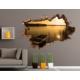 3D Art Göl ve Kayık – 3D Sticker 70x45 cm