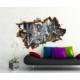 3D Art Venedik Kanal – 3D Sticker 70x45 cm