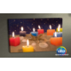 Evmanya Deco Renkli Mumlar Led Işıklı Kanvas Tablo 45x65 cm