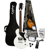 Epiphone Pro-1 Les Paul Ebony Elektro Gitar Paketi