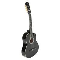 TORRES CG964C-BLK Siyah Kesik Kasa Klasik Gitar (Tuner, Kılıf ve Pena Hediyeli)