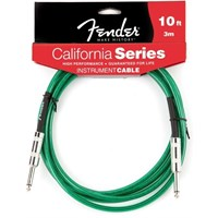 Fender 10' California Instrument Cable, Surf Green