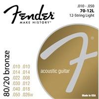 Fender 80/20 Bronze Acoustic Strings, Ball End, 70