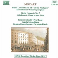 Mozart - Piano Concerto No. 21 - Violin Concerto No. 5 (Cd)