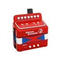 Mini Akordiyon Manuel Raymond 7 Tuşlu Kırmızı Mra72Rd