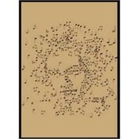 Fzsonata Notalardan Yapılmış Beethoven Posteri