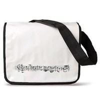 Viennaworld Askılı Notalı Çanta - Büyük (Beyaz)