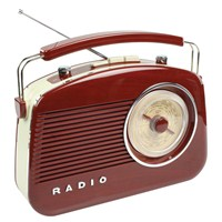 König Retro Design Am/Fm Radio - Kahverengi