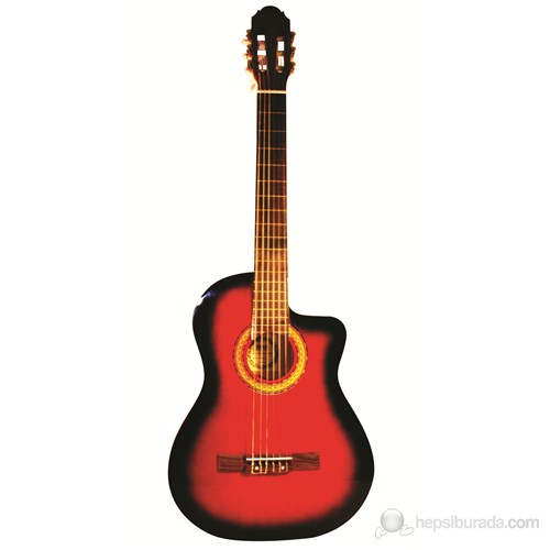 Jwin CG 3801C Kesik Klasik Gitar (Kılıf Hediyeli)