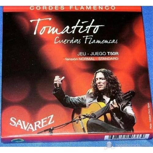Savarez T50R Tomatito Flamenco Gitar Teli - Normal Tansiyon