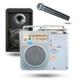 Osawa OSW-8107 Taşınabilir Akülü Hoparlör (El Mikrofonlu)