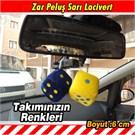 Autocet Sarı Lacivert Zar Peluş Araç Süsü 3462a