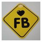 Dreamcar Vantuzlu Amblem ''I Love FB'' (Pürüzsüz tüm yüzeylere yapıştırılabilir.) 3300715
