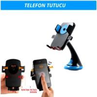 Araç İçi Telefon Tutucu Bas-Bırak Mavi