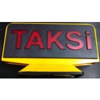 Tvet Taksi Levhası Mıknatıslı 3D Beyaz Kırmızı Taksi Yazısı