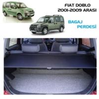 Tvet Fiat Doblo 2001 2009 Çekmeli Bagaj Perdesi Siyah Lüx 126Cm