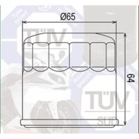 Mtx Mtx Yağ Filtresi Mf-204 Honda Nc750 X 2014 2016 Kawasaki Zx600 J3 (Zx6-R Ninja)