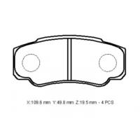 Ypc Fiat Ducato- 14/16 Arka Fren Balatası (Disk) (109,6X49,8X19,5)(Bramax)