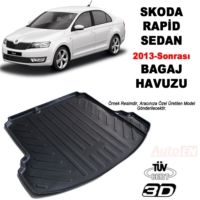 AutoEN Skoda Rapid Sedan 3D Bagaj Havuzu