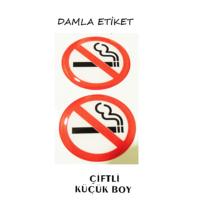 Damla Etiket Sigara İçilmez Küçük 2'li Gliptone Carat