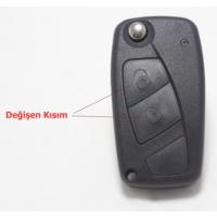 Gsk Fiat Linea Anahtar Kabı Basma Tuşu 2 Butonlu -2009-2012