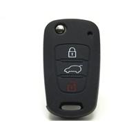 Gsk Hyundai İ20 Kumanda Kabı Koruyucu Silikon Kılıf 3 Tuş 2009-2012 Siyah