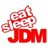 "Z tech "" Eat Sleep JDM "" Kırmızı Sticker 14x11cm"