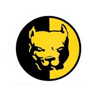 """Z tech """"Pit Bull"""" Sarı Siyah Stickerı 6 x 6 cm"""