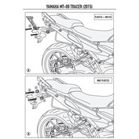 Kappa Klr2122 Yamaha Mt-09 Tracer (15-16) Yan Çanta Tasıyıcı