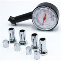 ModaCar Hava Ölçme Saati + Nikelajlı Sibop Kapağı Set ! 57a012