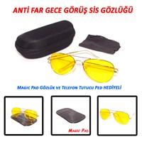 Anti Far Gece Görüş ,Sis ve Kötü Hava Görüş Gözlüğü (Taşıma Kılıfı & Temizleme Bezi)