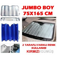 Dreamcar Kırmızı-Gümüş 1. Kalite Metalize Güneşlik Balonlu Jumbo Boy 75X165 Cm 1104502