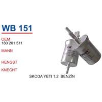 Wunder Skoda Yeti 1.2 Benzin Filtresi Oem No:180201511