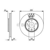 Bosch 0986479553 Ön Fren Aynası Mgn Iıı-Fluence-Lgn Iıı-Scenıc Iıı 1.6-2.0-1.5 Dcı-Duster 1.5 Dcı (280X24x5dlhavalı)