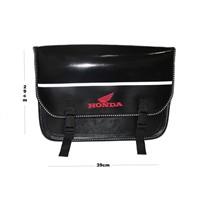 Tex 93 Honda Reflektörlü Suya Rüzgara Aşınmaya Dayanıklı Deri Heybe Çanta (28-30 Lt.)