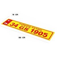 ModaCar GS 1905 Vantuzlu Cam İçi Plaka 360002