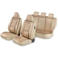 Pufi Ortepedik NANO Kumaşlı SüET Koltuk Kılıfı (Airbag Uyumlu) Camel Beji