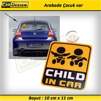 CRD CHILD IN CAR Vantuzlu (Arabada Çocuk var)