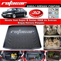 Skoda Super B Sedan 2008-2014 Bagaj Havuzu Paspası