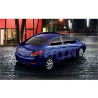 S-Dizayn Hyundai Accent Blue Kapı Cam Çıtası 4 Prç. P.Çelik ( Blue) (2011>)