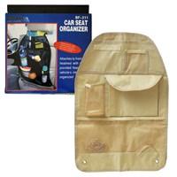 Autocet Katlanabilir Oto Koltuk Arkası Organizer Çanta (BEJ) -3154a