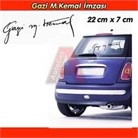 AutoCet Gazi M.Kemal İmza Sticker Siyah 3237a