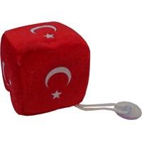 ModaCar Peluş Zar Türk Bayrağı Vantuzlu 24a100